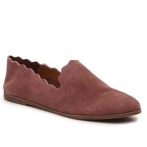 Lucky Brand Caliya Suede Flat Loafer in Mauve